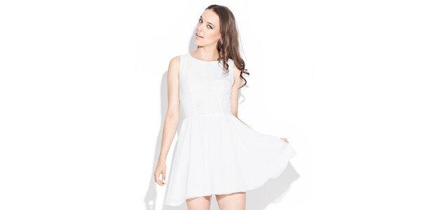 Dámské bílé šaty Katrus