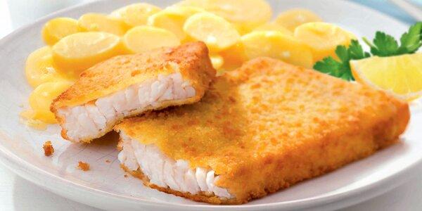 Aljašská treska, brambory a limonáda v Nordsee