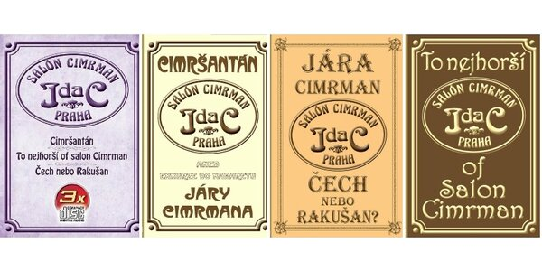 3 díly originálních nahrávek povídek Járy Cimrmana