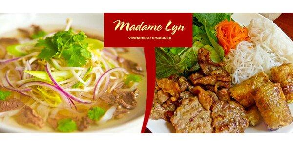 Vietnamské speciality v nové restauraci Madame Lyn