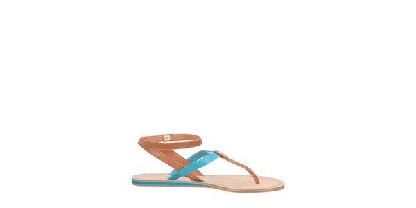 Dámské modro-hnědé sandály Flip Flop