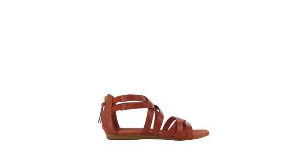 Dámské cihlově červené sandály Flip Flop