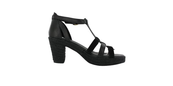 Dámské černé sandálky na podpatku Flip Flop