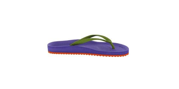 Dámské fialovo-zelené žabky Flip Flop