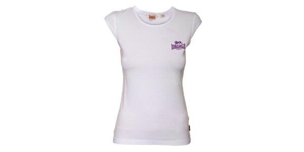 Dámské bílé tričko Lonsdale s vykrojenými rukávy