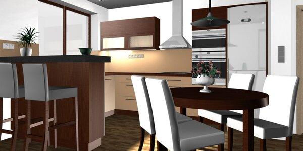 Designový návrh interiéru místnosti dle výběru