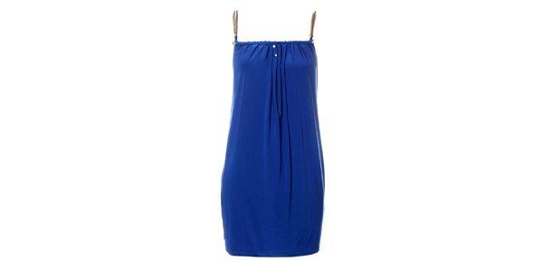 Dámské sytě modré šaty Via Bellucci