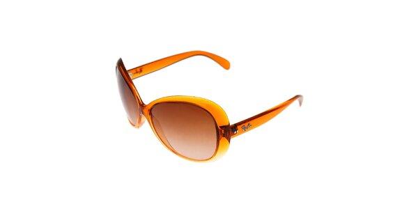 Dámské oranžové sluneční brýle Ray-Ban s kouřovými skly