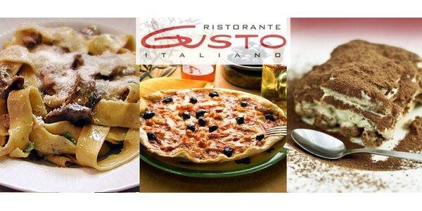 299 Kč za italské menu pro dva v ristorante Gusto!