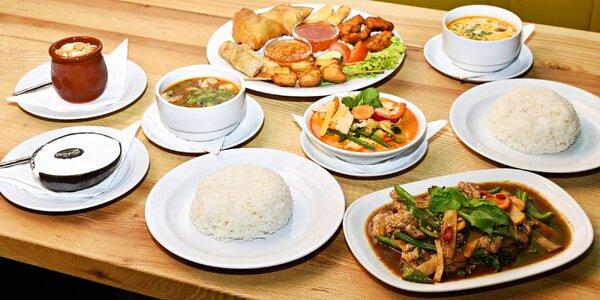 4chodové thajské menu pro 2 osoby v Orange Moon