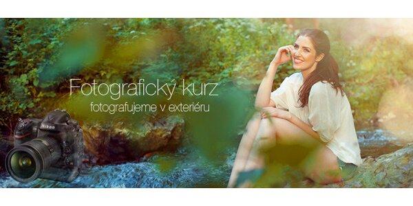 Jednodenní kurz focení v Praze – focení v exteriéru