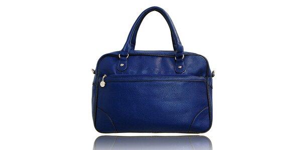 Dámská modrá kabelka s černým lemováním London Fashion