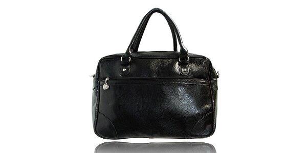Dámská černá kabelka s černým lemováním London Fashion