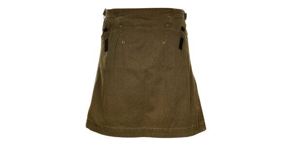 Dámská khaki sukně s pásky Hannah