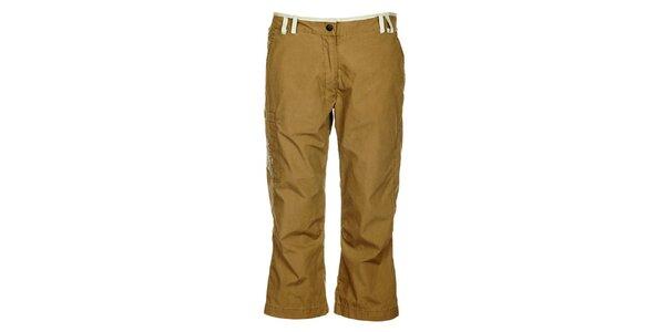 Dámské hnědé 3/4 kalhoty Hannah