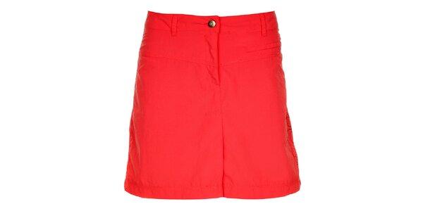 Dámská malinově červená sukně s výšivkou Hannah