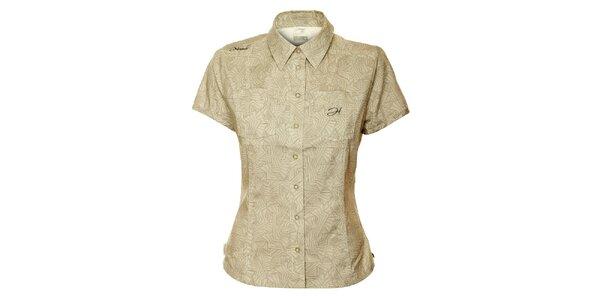 Dámská šedo-béžová vzorovaná košile Hannah
