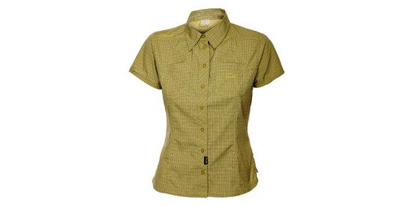 Dámská zelená outdoorová košile s jemným vzorkem Hannah
