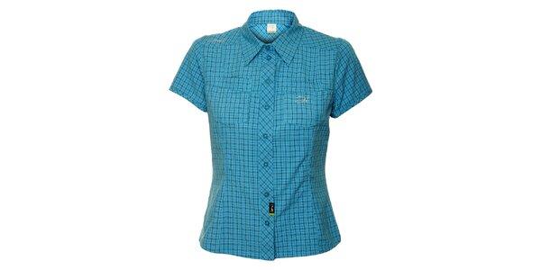 Dámská tyrkysová outdoorová košile s jemným vzorkem Hannah