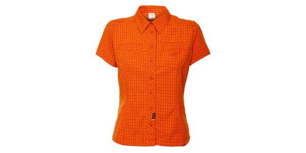 Dámská oranžová kostkovaná outdoorová košile Hannah