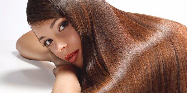 Ošetření brazilským keratinem pro lesk vlasů