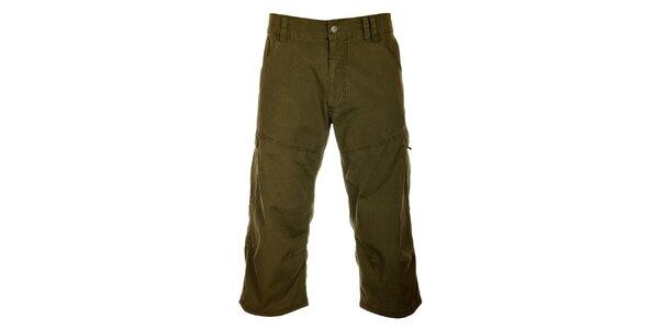 Pánské olivově zelené 3/4 kalhoty Hannah