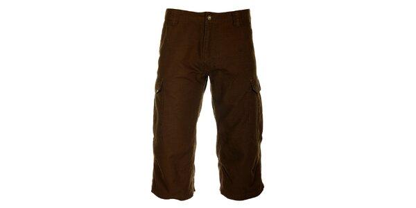 Pánské čokoládově hnědé 3/4 kalhoty Hannah