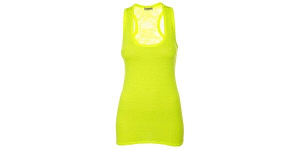 Dámský zářivě žlutý top bez rukávů Liza Too
