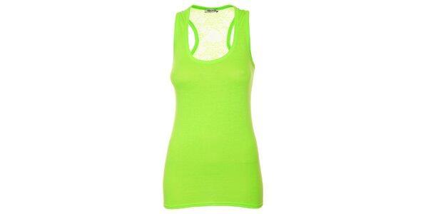 Dámský zářivě zelený top bez rukávů Liza Too