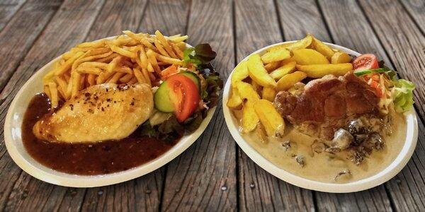 Steak, přílohy i omáčky dle výběru pro 2 osoby