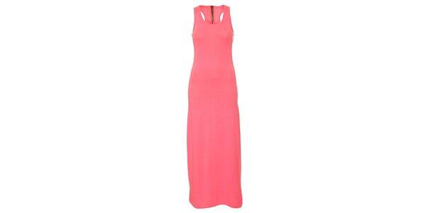 Dámské zářivě růžové dlouhé šaty Liza Too