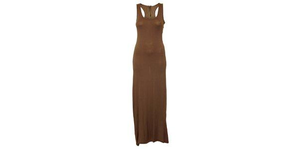 Dámské hnědošedé dlouhé šaty Liza Too
