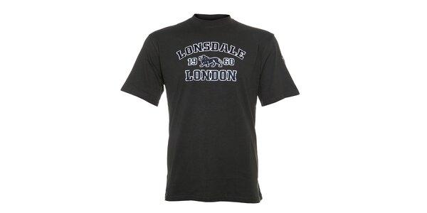 Pánské olivové tričko Lonsdale s bílo-zeleným potiskem