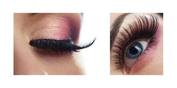 Prodloužení řas metodou řasa na řasu luxusní značkou Diamond lashes