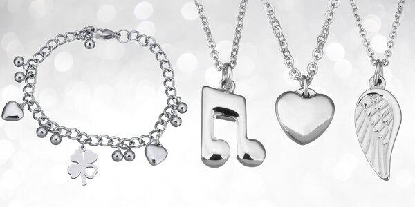 Náramky a náhrdelníky z chirurgické oceli