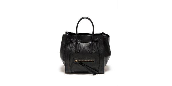 Dámská černá kabelka s copánkovým detailem Renata Corsi