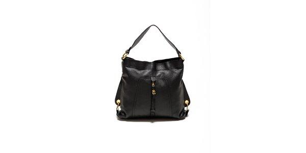 Dámská černá kabelka se zlatými přezkami Renata Corsi