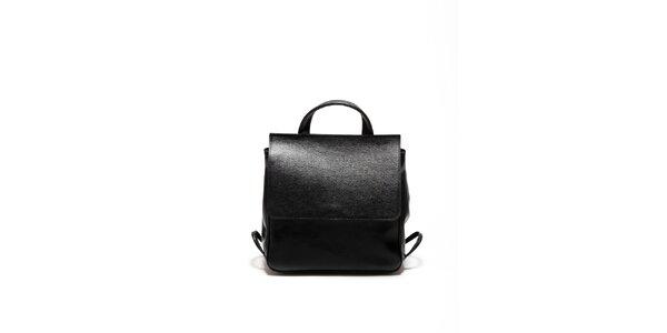 Dámská černá kožená retro kabelka Renata Corsi