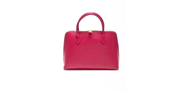 Dámská fuchsiová kabelka z kvalitní kůže Renata Corsi