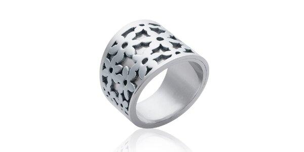 Dámský stříbrný prsten s květinami La Mimossa
