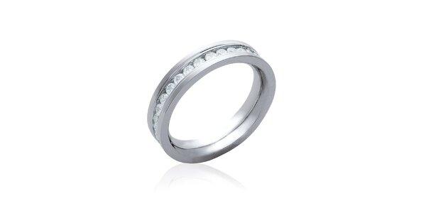 Dámský stříbrný prsten s kubickými zirkony La Mimossa