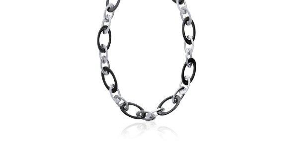 Dámský černo-stříbrný náhrdelník La Mimossa