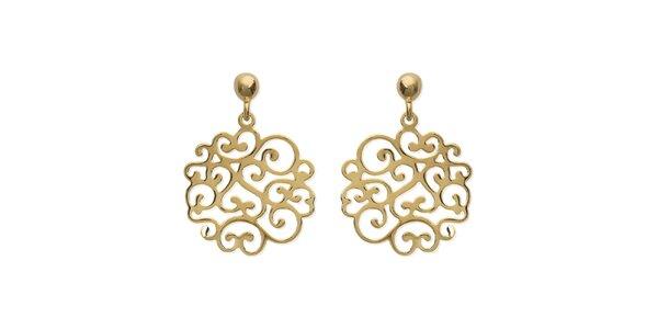 Zlaté ornamentální náušnice La Mimossa