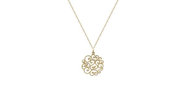 Zlatý řetízek s ornamentem La Mimossa