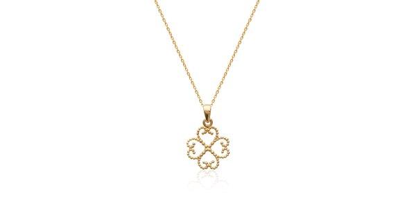Zlatý řetízek s orientálním ornamentem La Mimossa