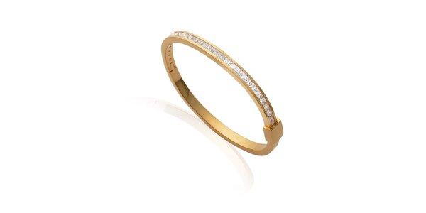 Zlatý náramek s kamínky La Mimossa