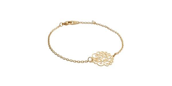Zlatý náramek s ornamentem La Mimossa