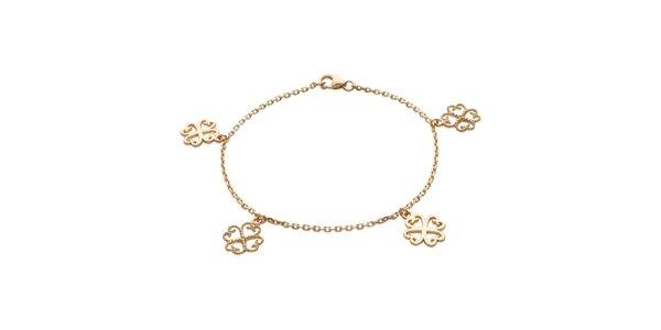 Zlatý náramek s květinovými komponenty La Mimossa