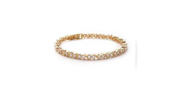 Zlatý řemínek s kamínky La Mimossa
