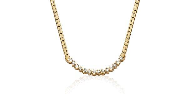 Zlatý náhrdelník s kamínky La Mimossa